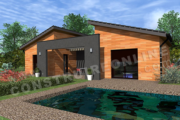 Vente de plan de maison for Plan maison contemporaine en u