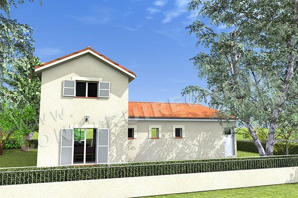 Plan de maison traditionnelle champetre - Modele maison champetre ...