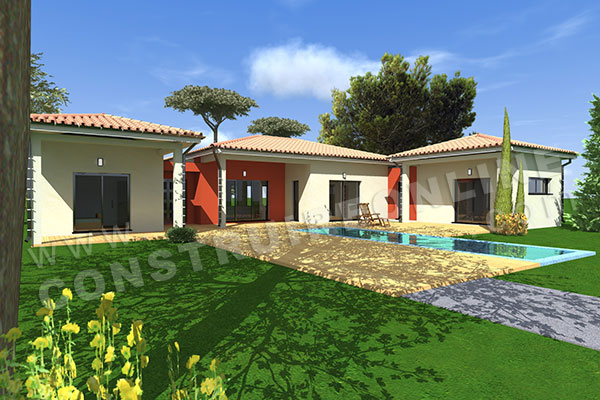 Plan de maison moderne pleasure for Plan villa moderne 200m2