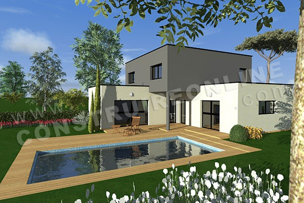 Vente de plan de maison d 39 architecte for Modele de villa contemporaine