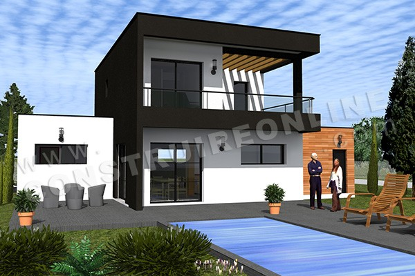 Plan de maison contemporaine trafford for Exemple maison