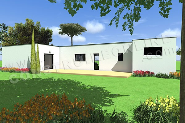 plan de maison plain pied contemporaine ATILA 2