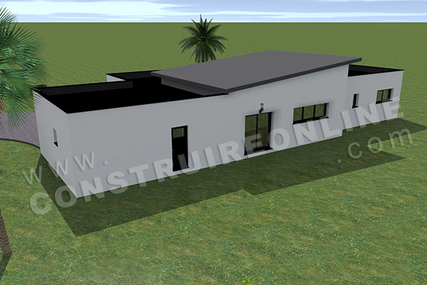 Plan de maison contemporaine etna for Plan maison monopente