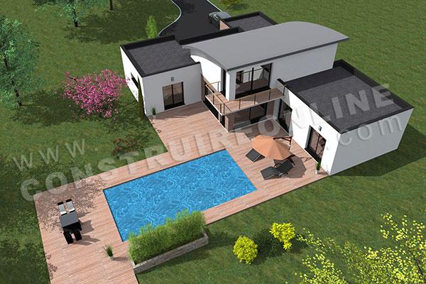 Plan de maison moderne AMPLITUDE