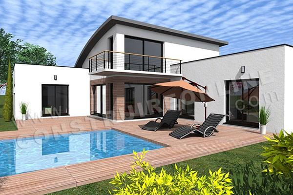 Vente de plan de maison for Maison monopente contemporaine