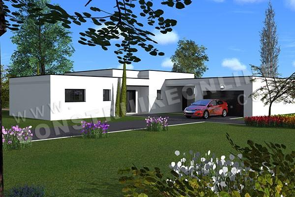 Plan de maison contemporaine madrid - Modele interieur maison moderne ...