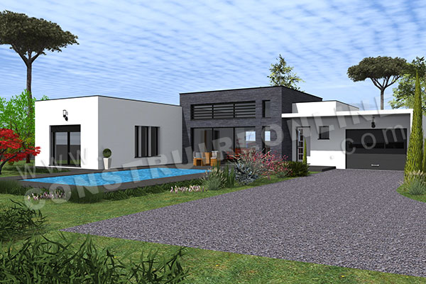 Vente de plan de maison d 39 architecte for Maison classique contemporaine
