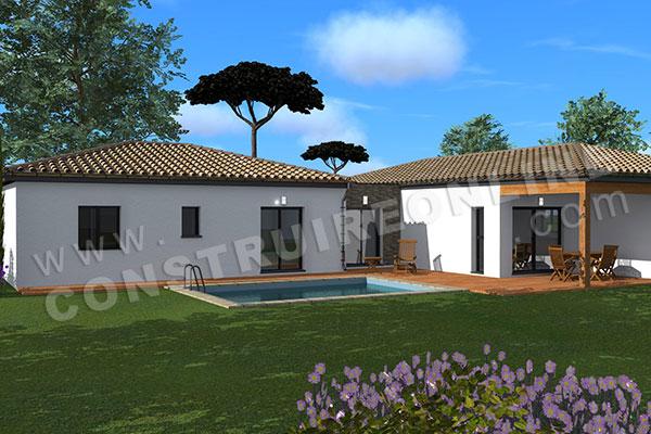 Plan de maison permis de construire ma tre d uvre for Maison moderne 250 000 euros