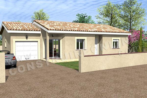 Plan de maison permis de construire ma tre d uvre for Maison contemporaine classique