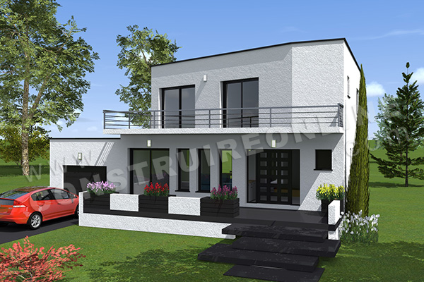 Vente De Plan De Maison Contemporaine