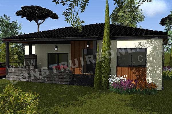 Vente de plan de maison plain pied - Plan maison plein pied moderne ...