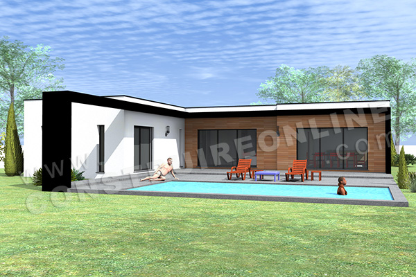 plan de maison contemporaine HAPPY 2