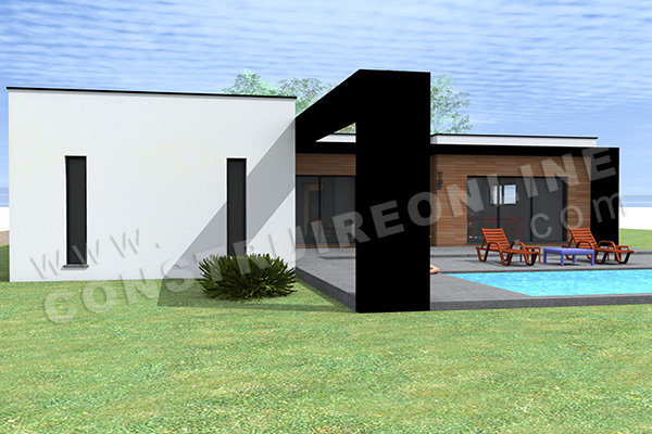 plan de maison contemporaine HAPPY 3