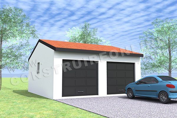 plan garage double 2 portes 1