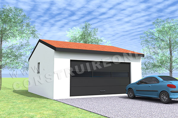 plan garage double 1 porte 1