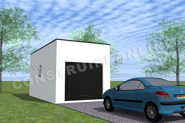 plan garage simple toit plat 1