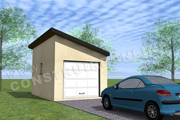 plan garage simple monopente 1