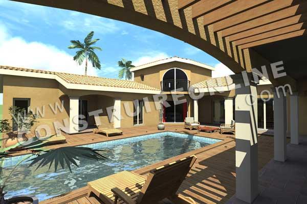 maison bois en u 28 images plan maison en u en bois ooreka villa construction bois avec. Black Bedroom Furniture Sets. Home Design Ideas
