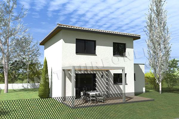 Plan de maison moderne PROJECT T4