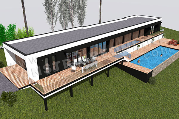 plan maison architecte contemporain RESIST 3