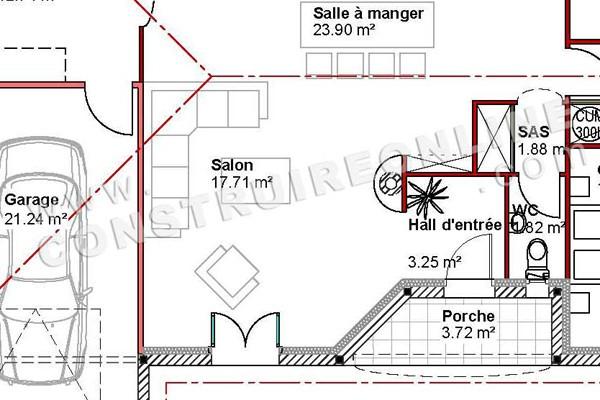 Interesting Dtail Plan De Maison Plain Pied Modle Betiz With Hauteur Maison  Plain Pied