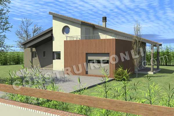 Plan de maison moderne chass crois for Voir sa maison en 3d