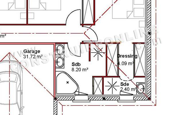 house plan modern spoutnik