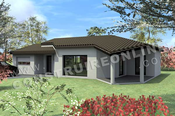 Vente de plan de maison plain pied for Exemple plan de maison plain pied