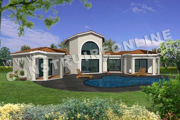 Plan de maison traditionnelle lamalou for Modele maison plan