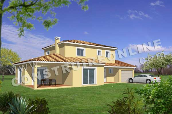 Plan de maison traditionnelle foggia for Maison 3d a construire