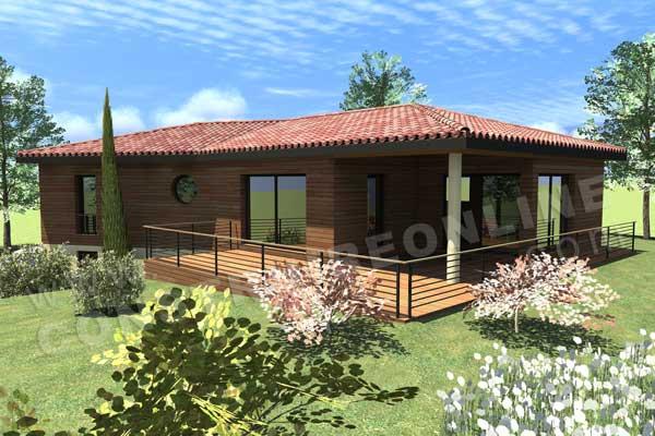 Plan de maison moderne ovaly for Plan maison sous sol complet